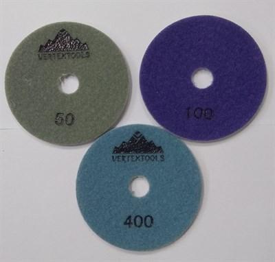 АГШК Алмазные гибкие круги Ø 100 мм (набор 3шт.) - фото 4965