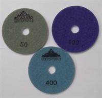 АГШК Алмазные гибкие круги Ø 100 мм (набор 3шт.)